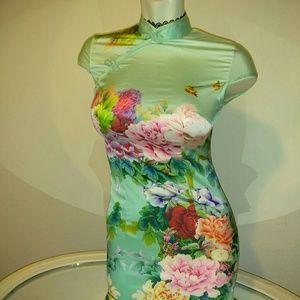 Floral Mandarin style dress